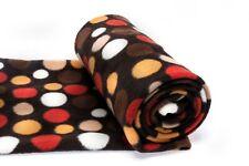 Tricots Polaires Fleece imprimé, motif 26 BRUN LA POIS, 50 x 150 cm