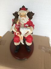 University Of Arkansas Wish  List Santa Figurine New The Memory Co.