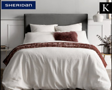New Sheridan Manchester King Bed Quilt Cover: Watervale White Cotton Matelasse