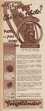 Y8736 Voigtlander - BRILLANT - Pubblicità d'epoca - 1935 Old advertising