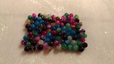 30  Agates veinées perles semi-précieuses