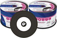 100 MediaRange CD-R 700Mb 80Min Vinyl Black Inkjet Printable Retro Bedruckbar