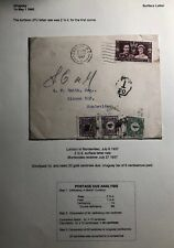 1937 London England Postage Due Cover To Montevideo Uruguay
