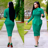 Women Long Sleeve Lady Bodycon Skirts Spring Sexy Slim Fit O-neck Casual Dresses