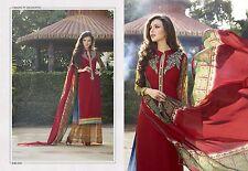 Unstitched Designer Salwar Kameez Bollywood Suit Indian Pakistani REDUCED