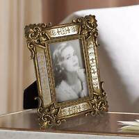 "Florentine 8 1/2"" High Antique Gold Mirror 4x6 Picture Frame"