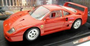 Hot Wheels 1/18 Scale Diecast - 23911 Ferrari F40 1988 Red Model Car