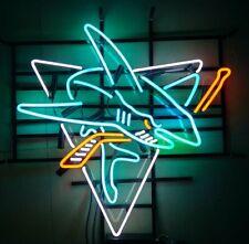 "San Jose Sharks Neon Sign 20""x16"" Beer Light Lamp Bar Glass Pub Display Windows"