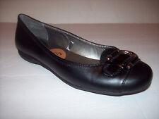 New WHITE MOUNTAIN Women's black ballet flat shoes US Sz 7.5M NICE!