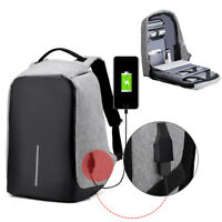 "Laptop Backpack Women Men 16.5"" Anti-theft Computer Notebook Bag USB Charge Port"