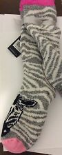 NWT Olivia + Joy Pink Zebra Slipper Socks 4/10