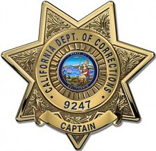 California Dept. of Corrections (Lieutenant) Badge Metal Sign with your info
