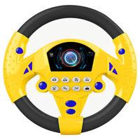 Backseat Steering Wheel Electronic Driver Car Game Toddler Child Kids Toy Boys