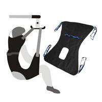 Patient Lift Sling Power Full Body Medical Lift Equipment Transfer Belt Black