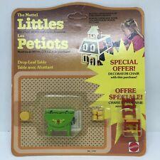 Mattel Littles Metal Dollhouse Mini 1:24 Furniture 1980 Kitchen Table Dishes