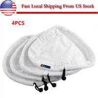 4Pcs Steam Washable Mop Cloth Cover Microfiber Floor Cleaning Replacement Pads