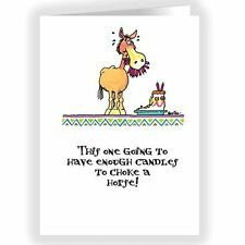 Choke a Horse Funny Card - Single Birthday Cards - 5x7 Birthday Card -  11310-1