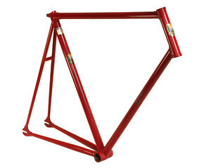 Brazed lugged Columbus Light steel track bike frame. IRIDE, Italy. 59 fixed big.