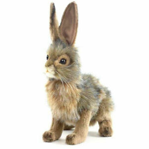 "NEW with Tag - Jack Rabbit, Blacktail Plush Stuffed Animal 9"" by Hansa Toys 3754"