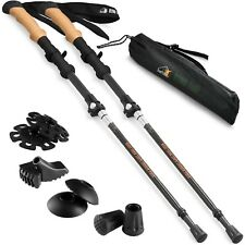 Ryno Tuff Trekking Poles, Carbon Fiber Hiking Pole Set of 2 Walking Sticks
