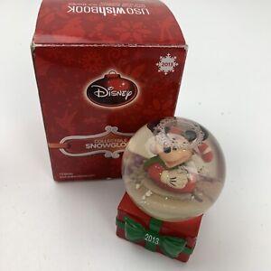 Disney JC Penney 2013 Holiday Mini Christmas Snow Globe w/ Box