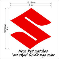 Suzuki S Logo neon Red 450 decals gsxs 750 sticker 1000 1100 gsxr 85 rmz 600 drz