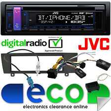BMW SERIE 1 e81 e82 e87 e88 JVC CD mp3 USB DAB + Bluetooth Auto Stereo & SWC KIT