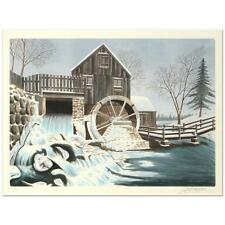 """""""The Mill"""" is a limited edition lithograph on paper by Glen F. Banse, signed"""