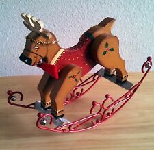 Home Made, Wood, Christmas, Decor, Rocking Reindeer