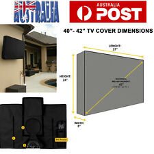 42 Inch Waterproof Television Cover, Outdoor TV Cover Black AU