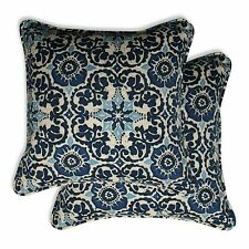 Pillow Karthirm Cloth Perfect Outdoor And Indoor Woodblock Prism 2 Pieces Blue