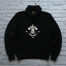 2004 Rugby Ralph Lauren Wool Skull RLFC Cardigan Sweater Mens Size XL Vtg