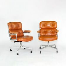1978 Herman Miller Eames Time Life Desk Chair In Cognac Leather Multiple Avail