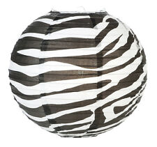 14'' Chinese Japanese Paper Lantern Safari Zebra Print  Home Wedding Party Decor