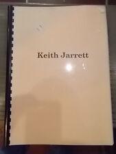 """KEITH JARRET """"IMPROVISATION 1"""" SPARTITO FOTOCOPIE DI VOLUME EDIZIONE GIAPPONESE"""