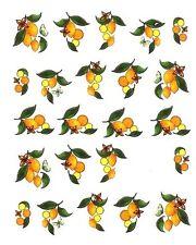 One Stroke Sticker,Früchte, Zitrone ,Tattoo, Aufkleber  Nr.1255