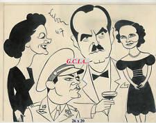 M.LOY - PORTRAIT/ CARICATURE - ORIGINAL par LEBON  1947