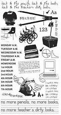 BasicGrey SCHOOL RUB ONS Black #673 scrapbooking