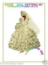 Bride Ribbon and Lace Doll Pattern make your own
