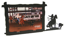 """Girl Woman Breakaway Roping Rodeo Picture Frame 5""""x7"""" H"""