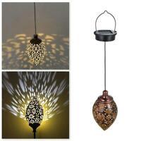 Outdoor Solar Lantern Hanging Light LED Yard Garden Lamp Waterproof