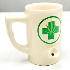 White w/ Green Cross Weed Mug