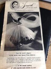 M3-2 Ephemera 1953 Advert Famous Ballerina Markova