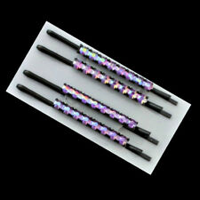 4 Pinces à cheveux épingles strass - violet - 6cm - Purple diamanté hairgrips