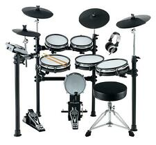 Electronic Drum E-Drum Kit Set 6 Mesh 4 Cymbals 2 Pedals Modul Set Stool Sticks