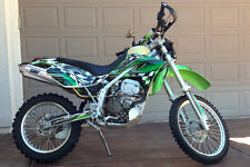 2005 2006 2007 KLX 250 KLX250 graphics sticker kit for KAWASAKI #2500 Green
