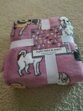 Dog Lovers Blanket Puppy Print Throw Plush Baby Blanket Husky Shepherd Retriever