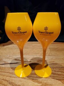 Veuve Clicquot Champagne Flutes Set Of 2 Orange