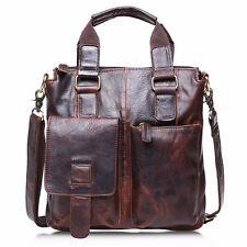 Stylish Men Genuine Leather Handbag Briefcase Tote Laptop Shoulder Bag Satchel