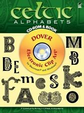 Celtic Alphabets (Book & CD-ROM) (Dover Electronic Clip Art)-ExLibrary